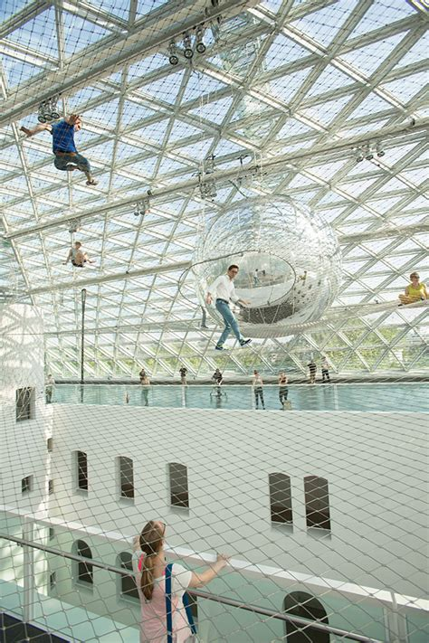 In Orbit Düsseldorf by Tom 225 S Saraceno Launches You Into The Sky With His