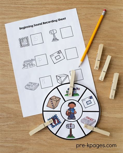 community helpers theme for preschool 373 | Printable Community Helper Beginning Sounds Activity