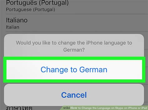 how to change language on iphone 4 how to change the language on skype on iphone or 8 steps