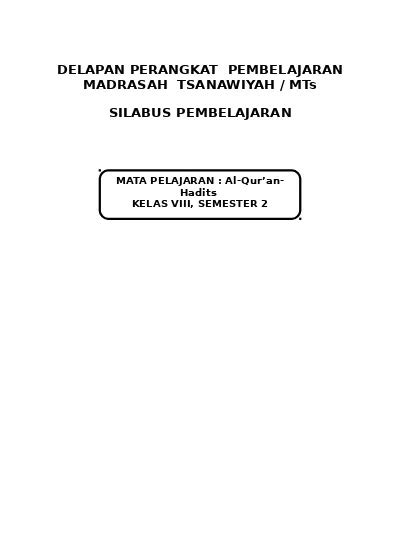 Check spelling or type a new query. Silabus Al-Quran Hadist Kelas 7 Semester Genap : Rpp Revisi Daring Qurdis Mts Tahun 2021 2021 ...