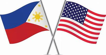 Philippines Flags Usa American States United Pork