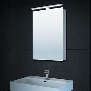 Spiegelschrank 100 Cm Led : alu spiegelschrank beleuchtet badezimmer badspiegel mit led beleuchtung 40x60 cm ebay ~ Bigdaddyawards.com Haus und Dekorationen