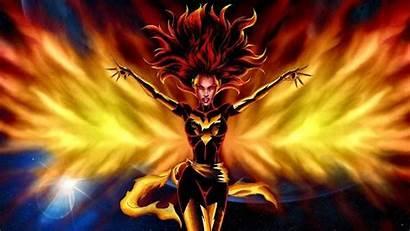 Phoenix Dark Wallpapers Desktop Jean Gray Comic