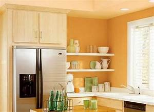 kitchen vibrant orange kitchen walls light orange With best brand of paint for kitchen cabinets with peach wall art