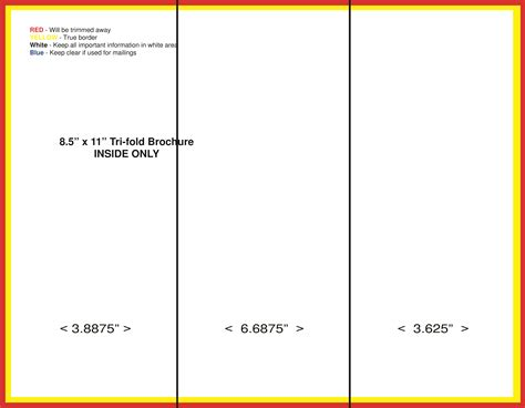 Blank Tri Fold Brochure Template Helloalive