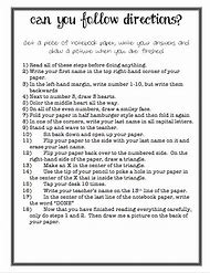 Best Following Directions Worksheet - ideas and images on Bing ...