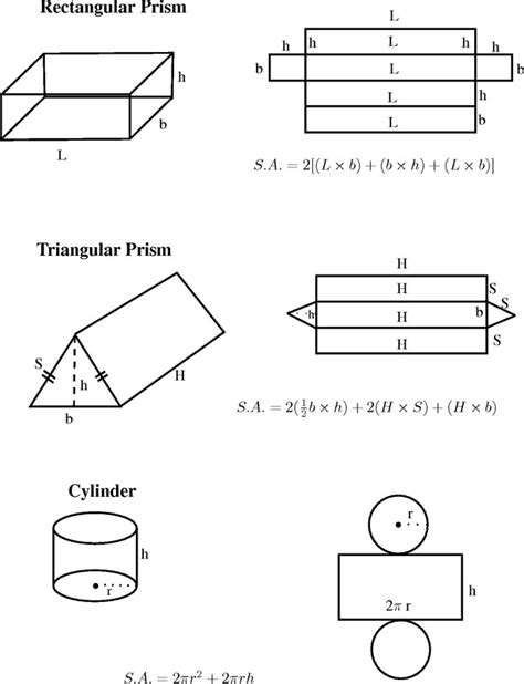Surface Area Of Prisms And Cylinders Worksheet Homeschooldressagecom
