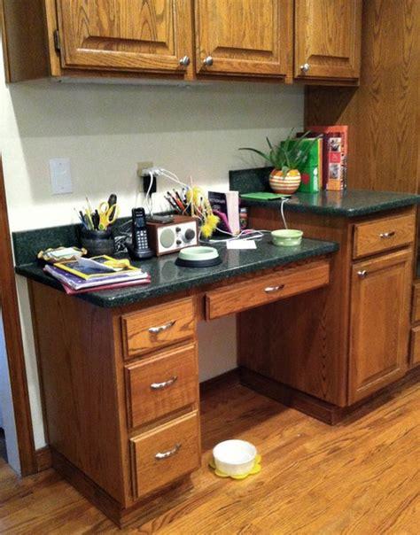 desk in kitchen design ideas ideas for a kitchen desk area 8686