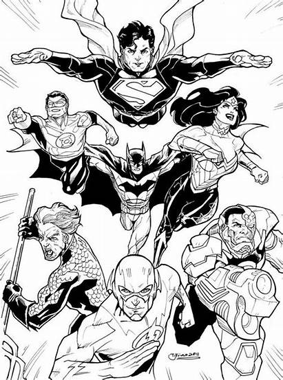 Coloring Justice League Pages Deviantart Dc Drawing