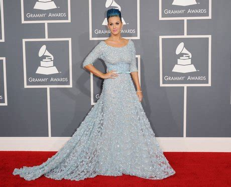 Katy Perry On Red Carpet - Grammy Awards 2012: Red Carpet ...