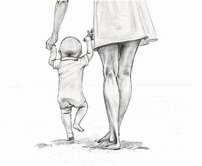 Drawing Mother Mom Pencil Sorry Drawings Children