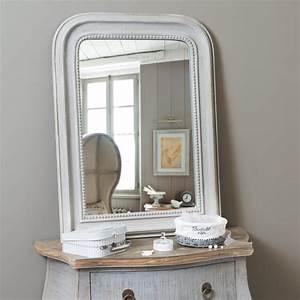 Maison Du Monde Miroir : miroir en bois gris h 80 cm el gance maisons du monde ~ Teatrodelosmanantiales.com Idées de Décoration