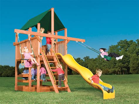 outdoor climb and slide playhouse house design and