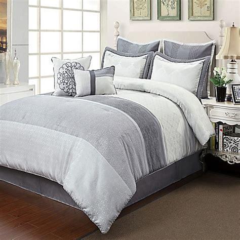 silver comforter set ciena comforter set in silver grey bed bath beyond