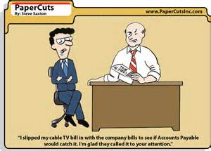Cartoon About Accounts Payable