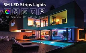 16 4ft Rgb Color Changing Led Strip Lights With 12v Power