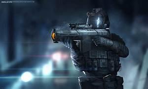 Concept futuristic soldier by badillafloyd on DeviantArt
