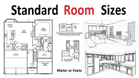 standard room sizes  plan development youtube