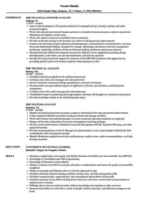 erp resume samples velvet jobs
