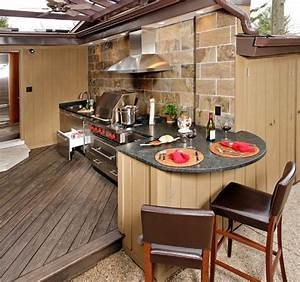 Upgrade your backyard with an outdoor kitchen for Outside kitchen design