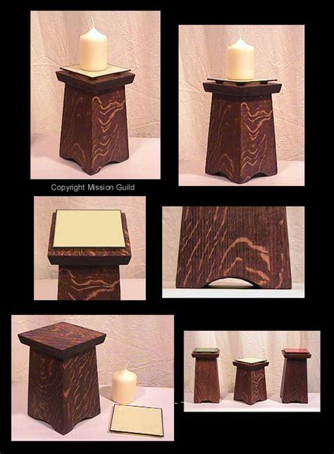 arts  crafts  mission candle holder pedestal