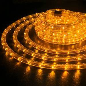 Orange 3  8 U0026quot  Led Rope 110v Wire Flexible Light Outdoor 10