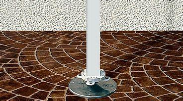 deck mount plate base  fim umbrellas  flexy awnings