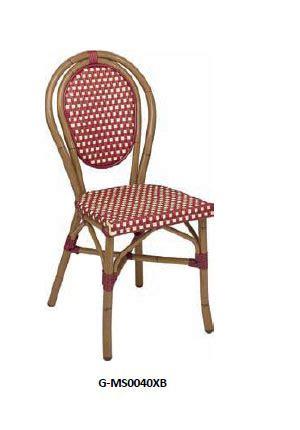 chaises de bistrot en rotin prix sur demande