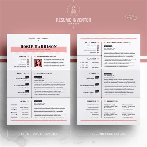Free Resume Templates For Pages by Resume Template 76563