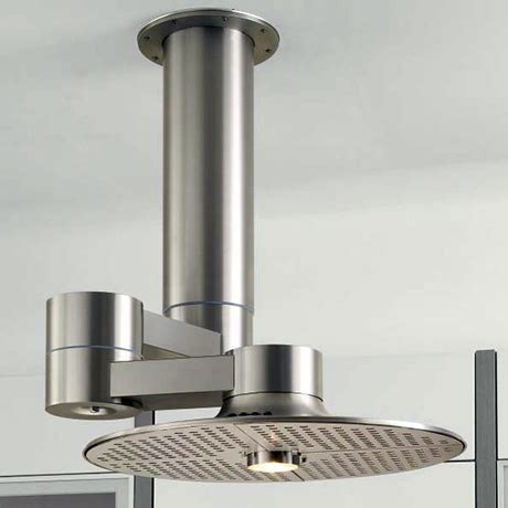 kitchen extractor fan with light homeier island with 360 176 swivel arm 8057