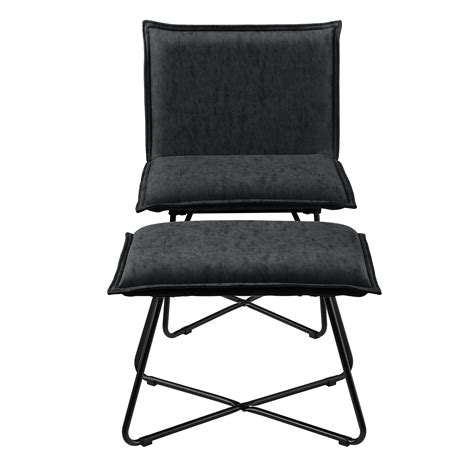 Sessel Mit Fußhocker by Sessel Mit Fu 223 Hocker Schwarz Wildlederimitat Hocker