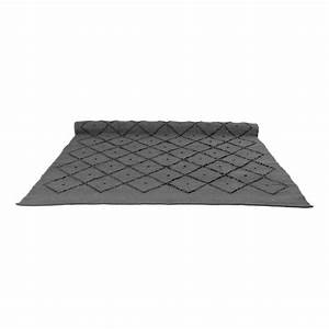 tapis diamond gris anthracite naco decoration smallable With tapis gris anthracite