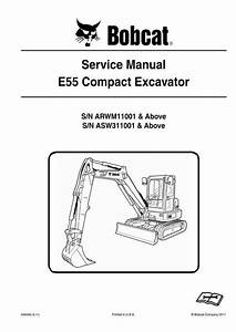Bobcat E55 Compact Excavator Service Manual