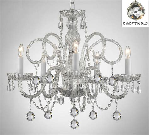 Chandelier Glass Crystals by All Chandelier Chandeliers With Balls Ebay