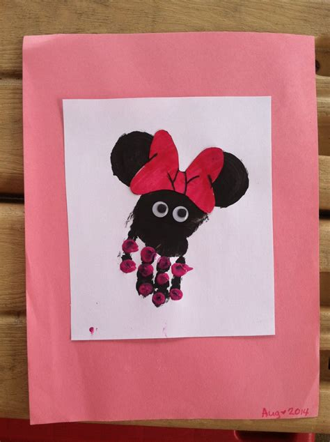 minnie mouse handprint crafts handprint 483 | 24c3010f804bb3fa5345cf4287930cde