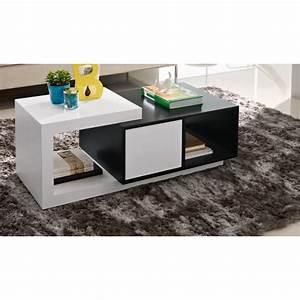 Table Basse Noir Laqué : table basse merisier wenge lola v ritable placage d ebenisterie ~ Teatrodelosmanantiales.com Idées de Décoration