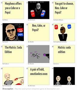 Morpheus Offers You A Coke Or A Pepsi Drawception
