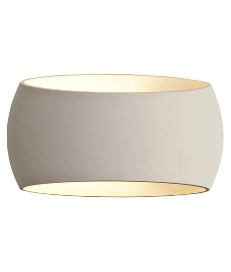 stylish white plaster wall light