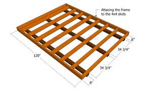how to frame a floor looking how to build a portable shed on skids sanki