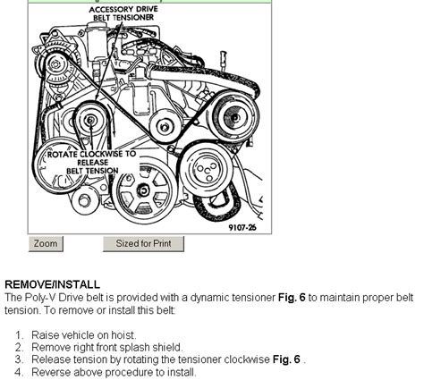 Dodge 33 Serpentine Belt Diagram by How Do I Replace The Serpentine Belt On A 1993 Dodge Grand