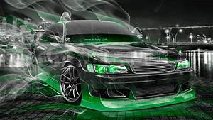 Toyota Mark2 Jzx90 Jdm Tuning Crystal City Smoke Drift Car