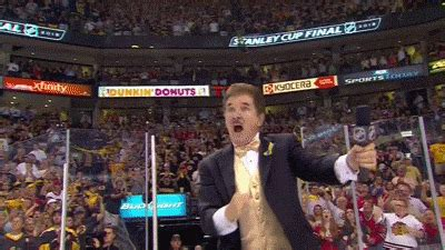bruins anthem singer   wayne gretzky  fist pumps