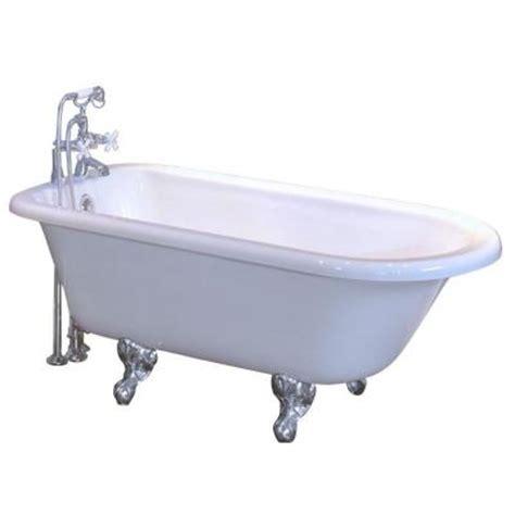 maax bathtubs home depot maax daydream 4 86 ft acrylic claw foot oval tub in white