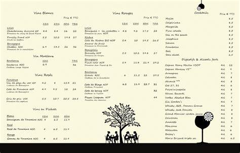 Carte Des Vins Boissons by Carte Des Vins Restaurant Chez Jos 233 Phine