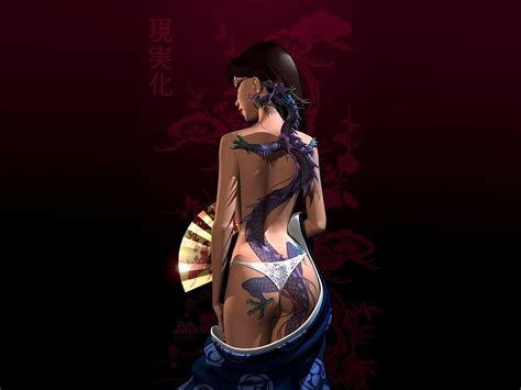 Permalink to Fantasy Tattoo Girl Wallpaper