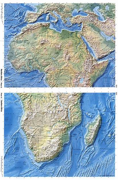Africa Map Relief Detailed Maps African Political