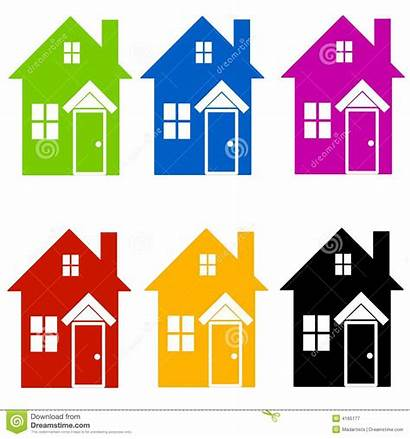 Clipart Clip Silhouettes Houses Silhouette Colourful Homes