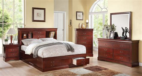Bookcase Bedroom Set by Louis Philippe Iii Bookcase Bedroom Set Cherry By Acme