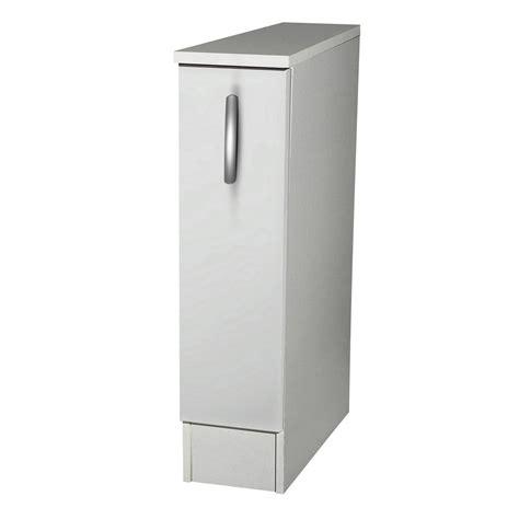 petit meuble de cuisine but meuble de cuisine bas 1 porte blanc h86x l15x p60cm