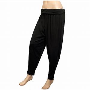 Plus-size Women's Black Baggy Pants | eVogues Apparel